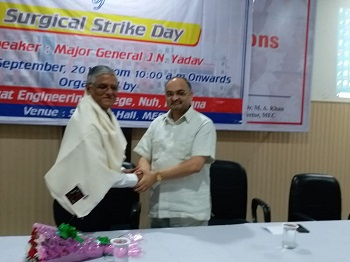 Surgical Strike Day             (Speaker: Major General J. N. Yadav) - Engineering college Haryana Photos